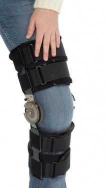 After surgery knee brace image