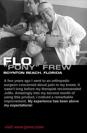 Flo uses JoMo Liquid Glucosamine