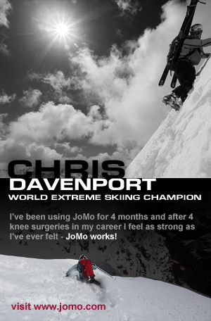 Chris Davenport uses JoMo Liquid Glucosamine