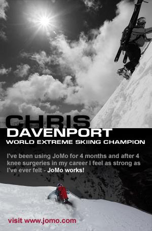 Chris Davenport uses JoMo Liquid Glucosamine
